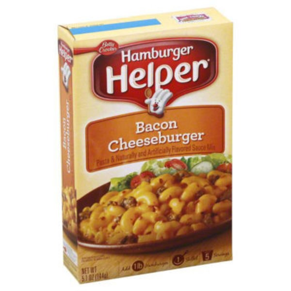 Betty Crocker Bacon Cheeseburger Hamburger Helper