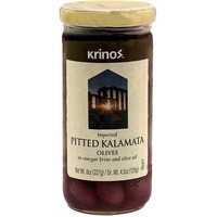 Krinos Pitted Kalamata Olives In Vineagar Brine And Olive Oil