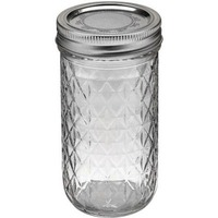 Ball Quilted Crystal Jelly Jars Regular Mouth - 12 CT