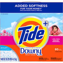 Ultra Tide Plus a Touch of Downy April Fresh Powder Laundry Detergent