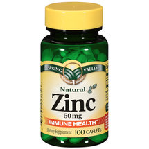Spring Valley Natural Immune Health 50 mg Zinc Caplets