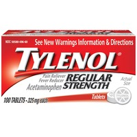 Tylenol® Pain Reliever/Fever Reducer, Regular Strength Tablets