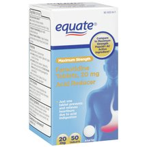 Equate Famotidine Acid Reducer Tablets 20mg