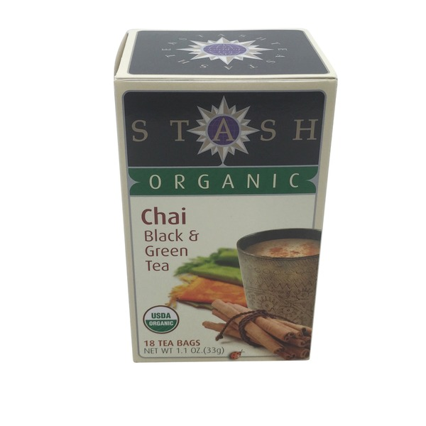 Stash Tea Organic Chai Black & Green Tea