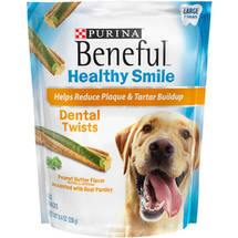 Purina Beneful Healthy Smile Dental Dog Snacks Twists Large Treats
