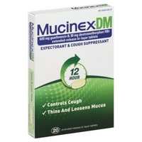 Mucinex Dm 12 Hour Extended-Release Bi-Layer Tablets Expectorant/Cough Suppressant