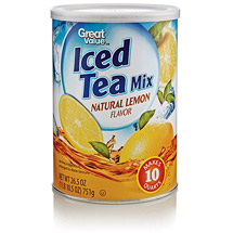 Great Value Natural Lemon Flavored Iced Tea Mix