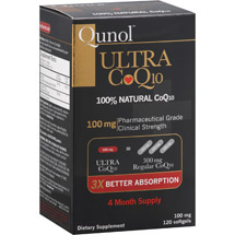 Qunol Ultra 100% Natural COQ10 100 mg Softgels