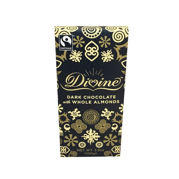Divine Dark Chocolate With Whole Almonds