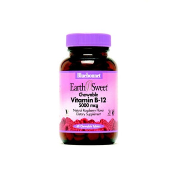 Bluebonnet Nutrition Earth Sweet Chewable Vitamin B12 5000 Mcg