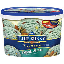 Blue Bunny Frozen Premium Pistachio Almond Ice Cream