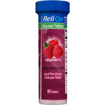 ReliOn Raspberry Glucose Tablets