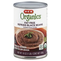 H-E-B Organic Fat Free Refried Black Beans