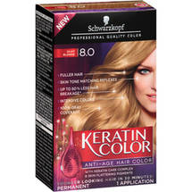 Schwarzkopf Keratin Color Anti-Age Hair Color Kit 8.0 Silky Blonde