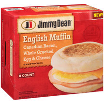 Jimmy Dean Canadian Bacon Whole Cracked Egg & Cheese English Muffin Sandwiches
