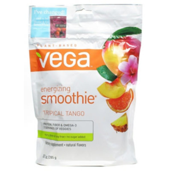 Vega Tropical Tango Flavor Protein Smoothie Instant Powder Drink Mix