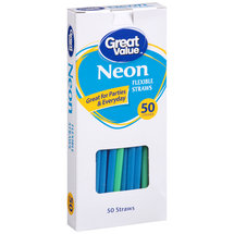 Great Value Neon Flexible Straws
