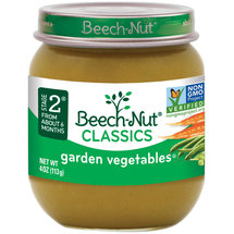 Beech Nut Country Garden Vegetables Stage 2 Baby Food