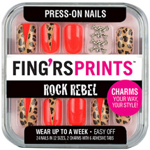 Fing'rs Prints Rock Rebel Press-On Nails Wild Card