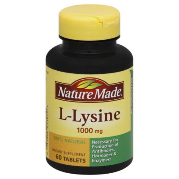 By Nature Made L-Lysine Tablets