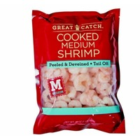 Great Catch Medium Cooked Tail Off Peeled And Deveined Shrimp