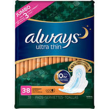 Always Ultra Thin Overnight Flexi-Wings Pads