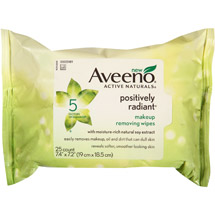 Aveeno Active Naturals Positively Radiant Makeup Removing Wipes