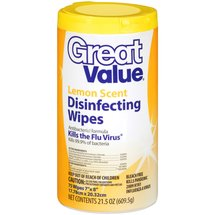 Great Value Lemon Scent Disinfecting Wipes