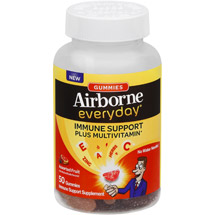 Airborne Everyday Immune Support Plus Multivitamin Supplement Gummies