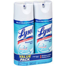 Lysol Crisp Linen Scent Disinfectant Spray (Pack of 2)