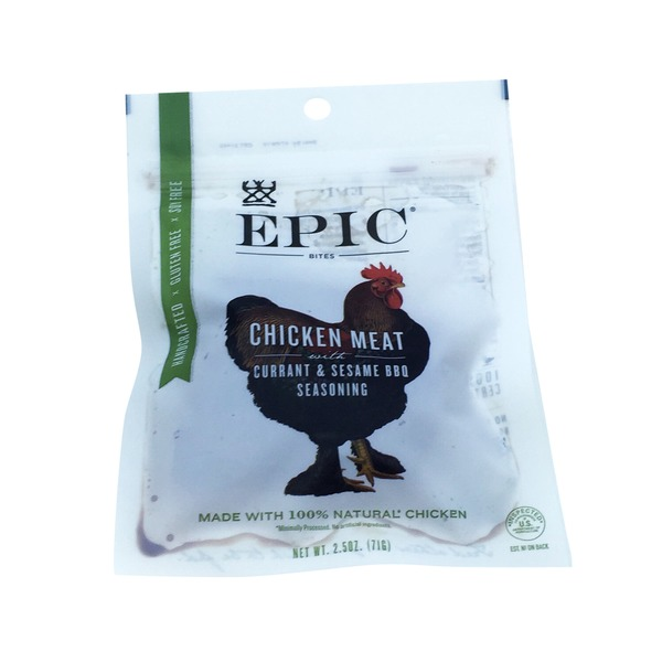 Epic Bites Chicken Meat with Currant & Sesame BBQ Seasoning