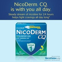 Nicoderm CQ Clear 21mg Step 1 Patch