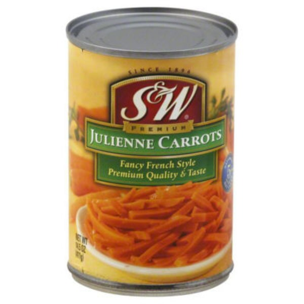 S&W Julienne Fancy French Style Carrots