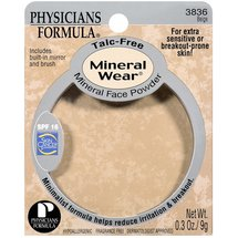 Phyicians Formula Beige Talc-Free Spf 16 with Built-In Mirror & Brush Mineral Face Powder .3 oz