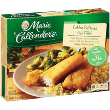 Marie Callender Fish Fillet With Rice & Broccoli In Cheese Sauce