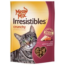 Meow Mix Irresistibles Cat Treats Crunchy with Salmon & Ocean Whitefish