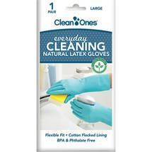 Clean Ones Natural Latex Gloves Large
