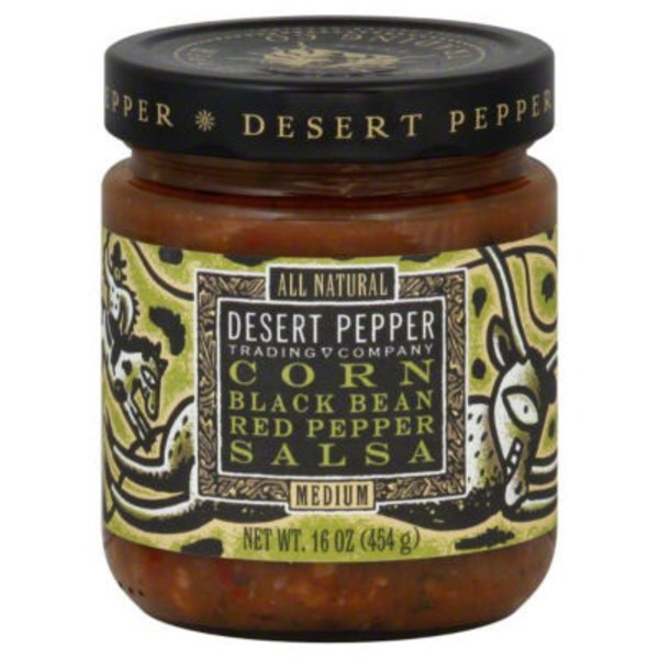 Desert Pepper Medium Corn Black Bean Red Pepper Salsa