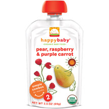 Happy Baby Simple Combos Stage 2 Organic Pear Raspberry & Purple Carrot