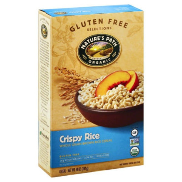Nature's Path Organic Crispy Rice Whole Grain Brown Rice Cereal