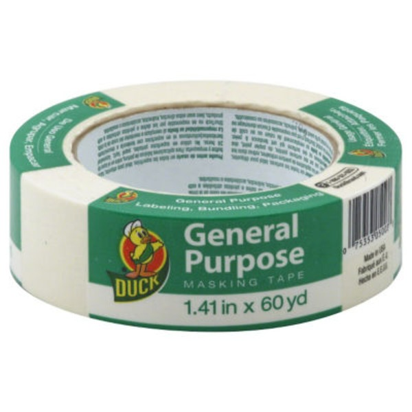 Duck General Purpose Masking Tape 1.41 inches x 60 yd
