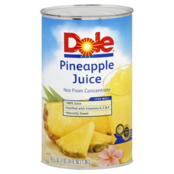 Dole 100% Juice 100% Pineapple Juice