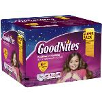 GoodNites Girls' Bedtime Underwear Super Pack L/XL