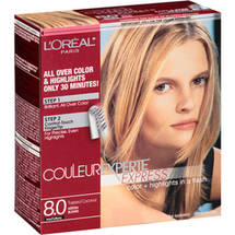 L'Oreal Paris Couleur Experte Express Natural Hair Color Kit 8.0 Toasted Coconut Medium Blonde