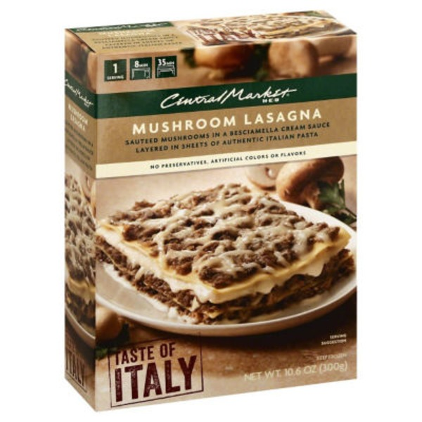 Central Market Taste If Italy Mushroom Cheese Lasagna