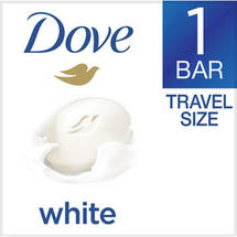 Dove White 1/4 Moisturizing Lotion Travel Size Beauty Bar