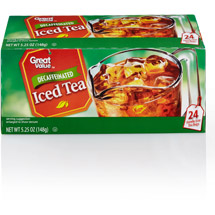 Great Value 100% Natural Decaffeinated Black Tea Bags Family Size