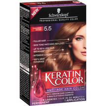 Schwarzkopf Keratin Color Anti-Age Hair Color Kit 5.5 Cashmere Brown