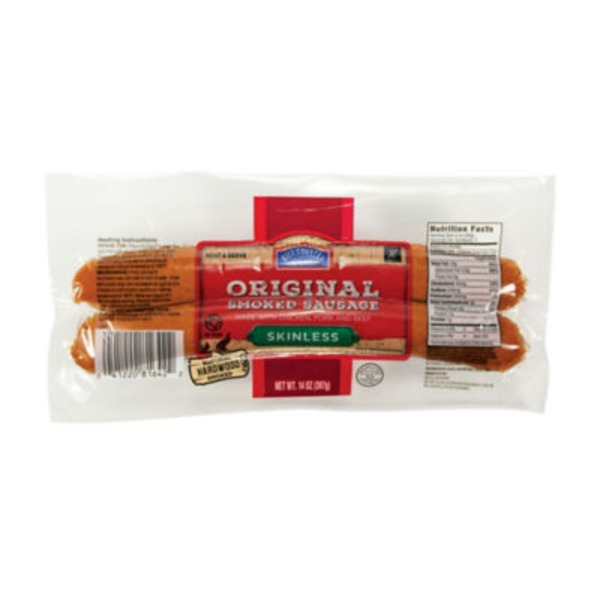 Hill Country Fare Original Smoked Skinless Sausage