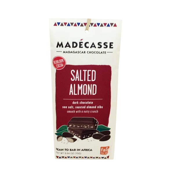Madécasse Salted Almond Chocolate Bar